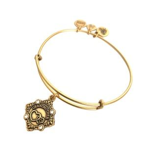 Alex and Ani Gold Grandmother Charm Bracelet New
